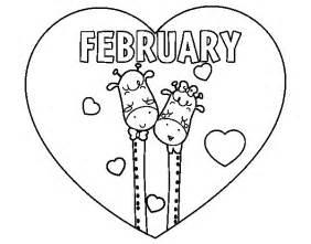 february coloring pages february coloring page coloringcrew