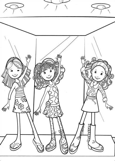 kids n fun com 65 coloring pages of groovy girls