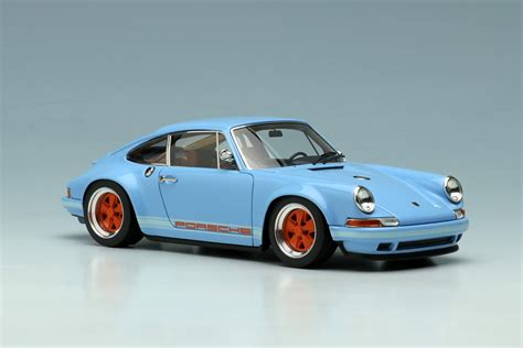singer porsche blue gulf blue porsche singer 911 by up co ltd 1 43