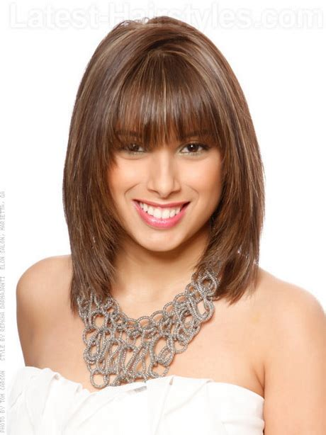 below the shoulder hairstyles medium haircuts with fringe