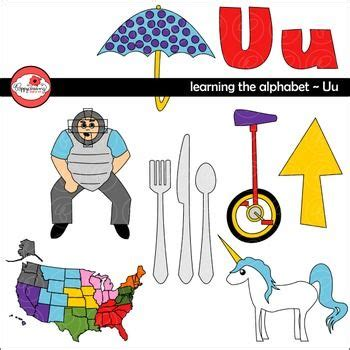 colors starting with u learning the alphabet the letter u clipart by