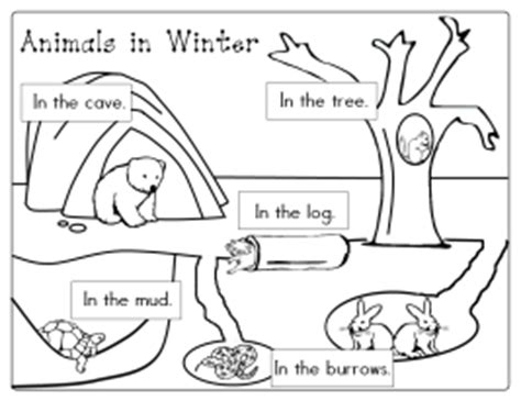 coloring pages animals hibernating animals in winter printables itsybitsylearners