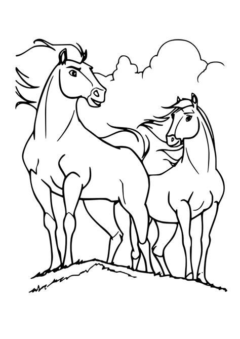 dibujos  colorear pintar imprimir caballos