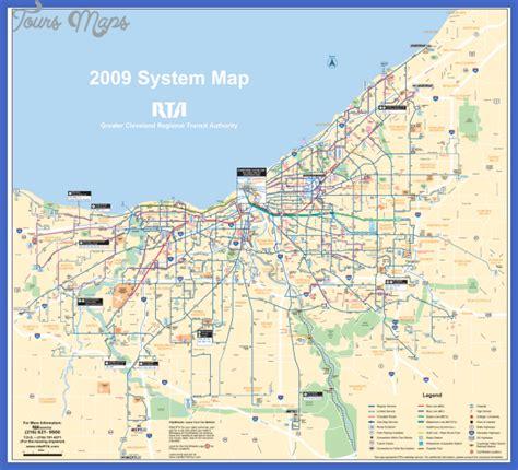maps cleveland cleveland map toursmaps