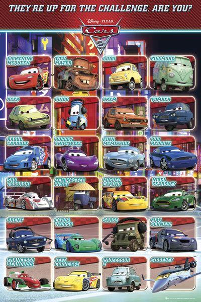 Cars 2 Characters Names