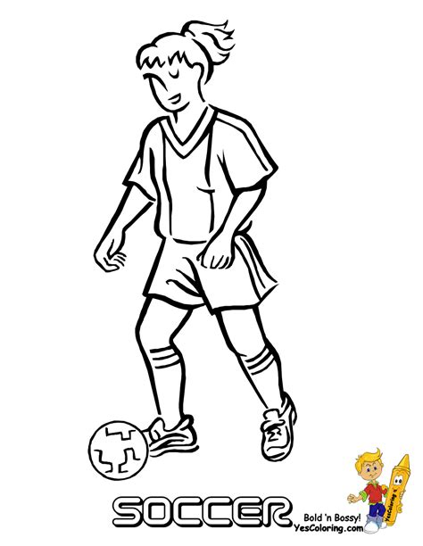 Coloring Page Soccer Girl | girl soccer player coloring pages