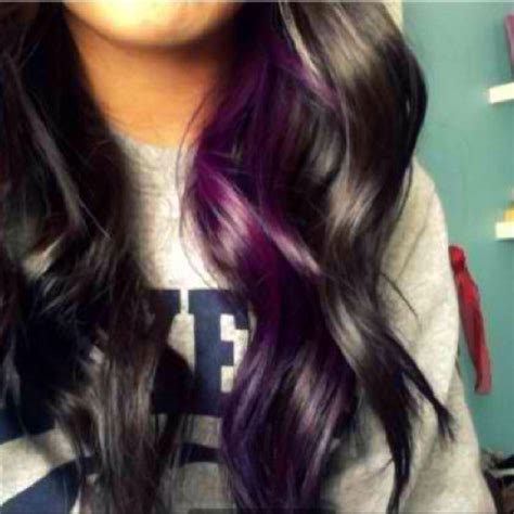 peek a boo hair color ideas purple peekaboo highlights hair purple