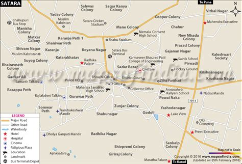 Satara City Map