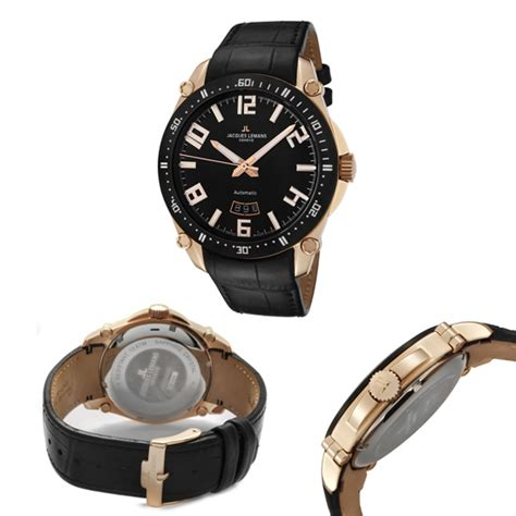 Swiss 8151 Black Rosegold List jacques lemans s and s watches