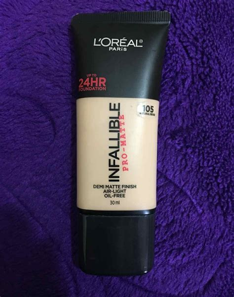L Oreal Infallible Pro Matte Foundation 24 Hr 20 Sand loreal infallible pro matte 24hr foundation review