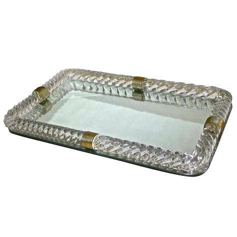 venini style murano twisted rope glass vanity tray at 1stdibs