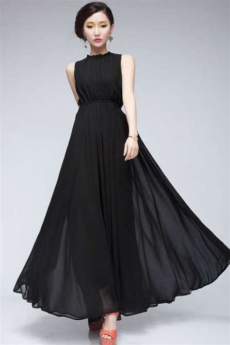 chiffon hairstyles black chiffon dress 2015 fashion and women