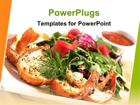 templates for powerpoint food powerpoint template a picture of shrimp salad with