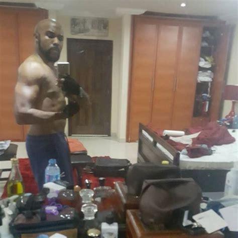 Banky W Shows Off His Toned Bod In New Bedroom Selfie Celebrities Nigeria