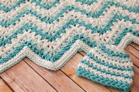 Crochet Ripple Baby Blanket Pattern gentle ripple baby blanket and hat crochet pattern