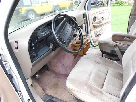 airbag deployment 1993 ford e series engine control sell used 1993 ford econoline hi top coachmen edition conversion van 7 passenger e150 in