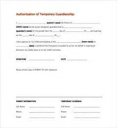 Authorization Letter Guardian Sle Temporary Guardianship Form 8 Documents In Pdf Word