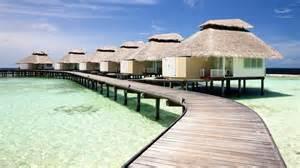 Tiki Hut Resorts Tiki Huts On The Pier Maldives Wallpaper 608478