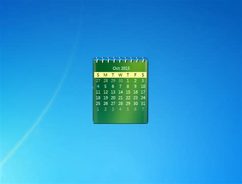 Desktop Calendar Windows Zcalendar Windows 7 Desktop Gadget