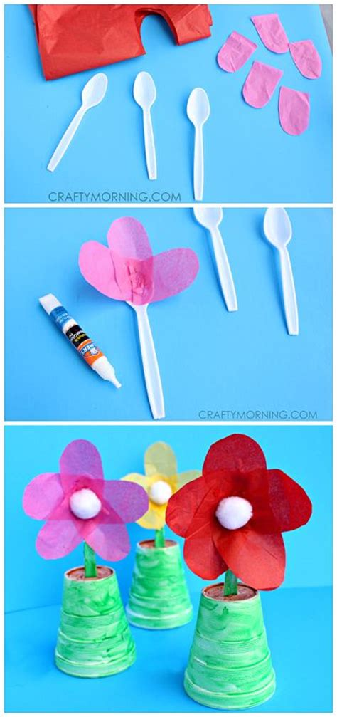 easy day crafts for spoon flowers for a s day gift tissue