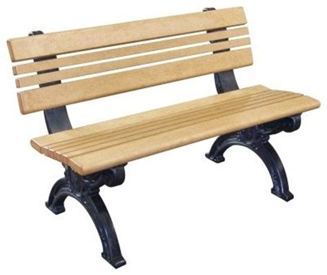 commercial grade park benches cambridge 4 ft commercial grade armless park bench