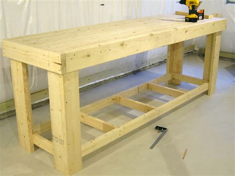 woodwork bench plans free workbench plans home design ideas