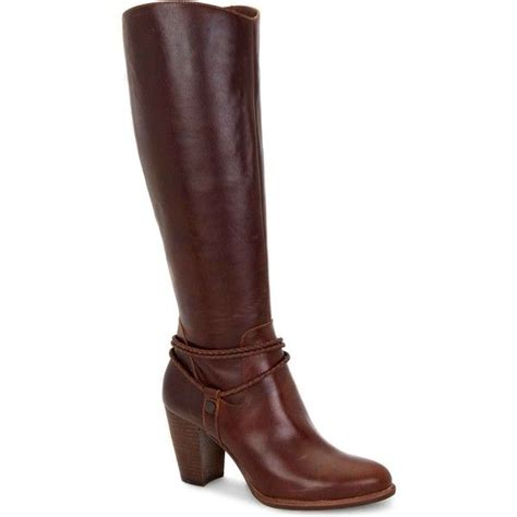 brown high heel knee high boots ugg australia s neoma pinecone 325 liked on