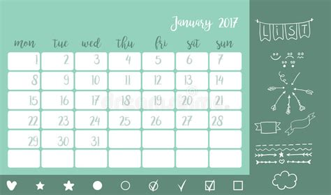 calendario condiviso doodle desk calendar template for month january week starts