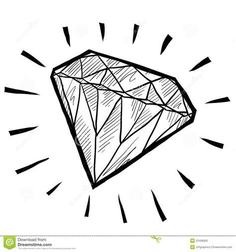 diamond sketch royalty free stock photo image 22499905