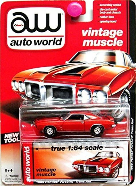 1969 Pontiac Firebird By Auto World 1 64 Scale store auto world vintage true 1 64 scale orange 1969 pontiac firebird trans am