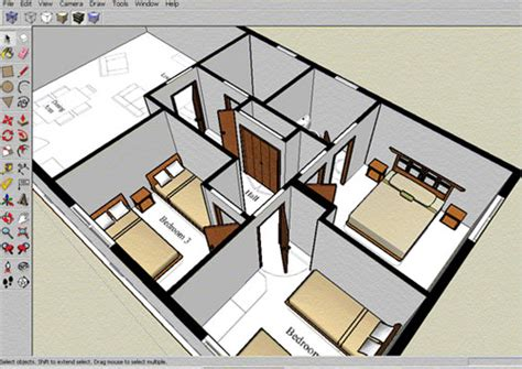 Home Design 3d Exterior by Draw Floor Plan With Sketchup Sketchup Floor Plan Tutorial