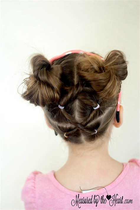 cute girls hairstyles minnie mouse minnie mouse hairstyle tutorial by measured by the heart