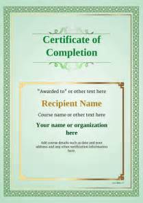 Blank Certificate Of Completion Template by Certificate Of Completion Free Quality Printable