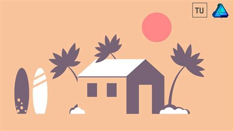 vector tutorial beginner tutorial for beginners beach house vector illustration