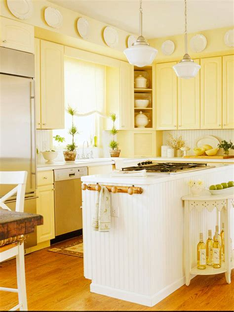 Yellow Painted Kitchen Cabinets | modern furniture traditional kitchen design ideas 2011