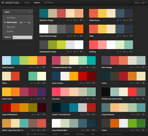 Web Page Color Combinations web design application color schemes shahid hashmi web designer front end developer