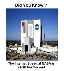 Do you know the internet speed at nasa satellite station