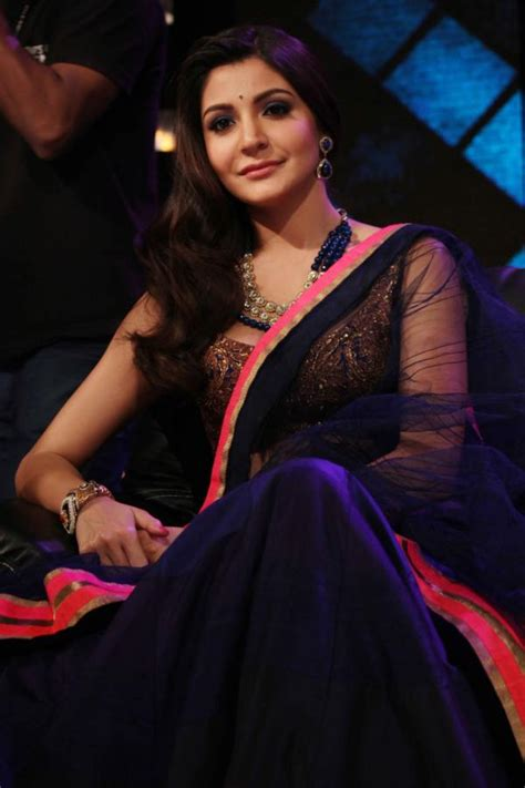 Sharma Designs The Of A - anushka sharma in black transparent saree