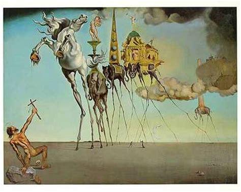 Salvador Dalis Werke by Salvador Dali Le Tentation De Poster Kunstdruck Bei