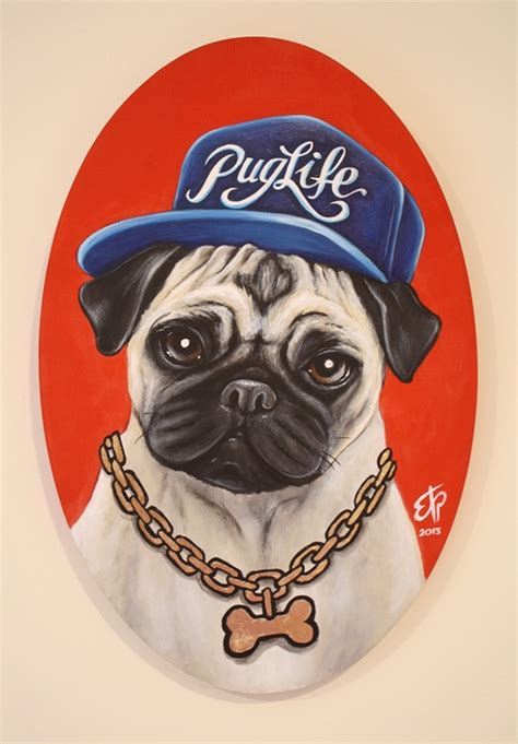 gangster pug the gangster pug the captain and the gentleman on pantone canvas gallery