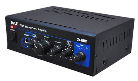 Power Lifier Pyle Home Pta2 Mini 2 X 40 Watt Stereo Power Lifier Home Audio Theater