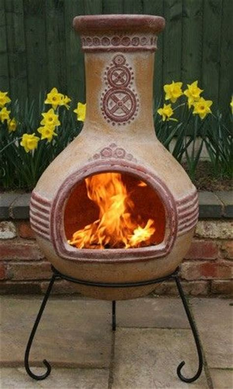 chiminea on porch decks and housewarming present on