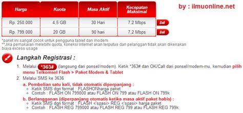 Paket Modem Axis cara mendaftar paket telkomsel flash simpati lengkap