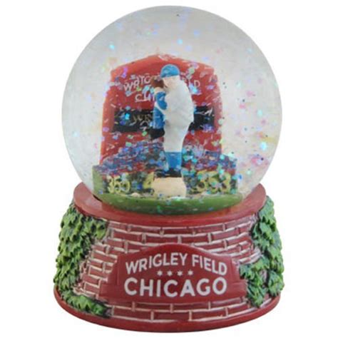 snow globe with fan cubs snow globes chicago cubs snow globe cubs snow globe