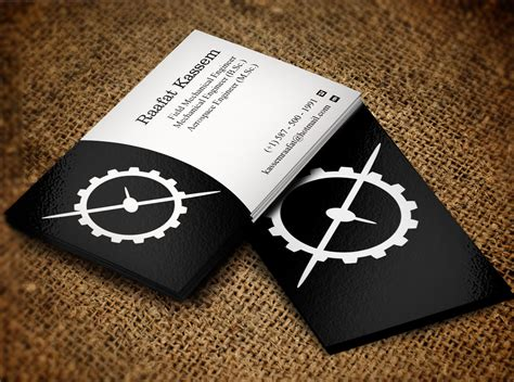 Mechanical Engineering Business Cards
