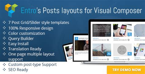 grid layout visual composer entro s posts layout for visual composer nulled download