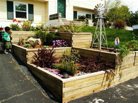 simple garden terraced driveway our garden pinterest