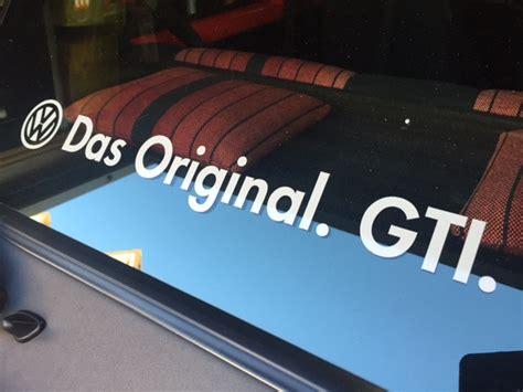 Vw Das Original Aufkleber by Das Original Gti Sticker Vw Golf 1