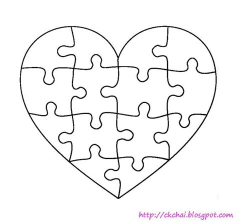 1000 images about printable hearts stars on pinterest 1000 ideas about puzzle piece template on pinterest free