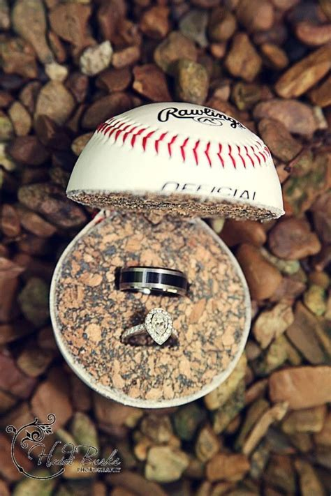Ee  Wedding Ee   Rings In Baseball Heidi Burks Photography Heidi